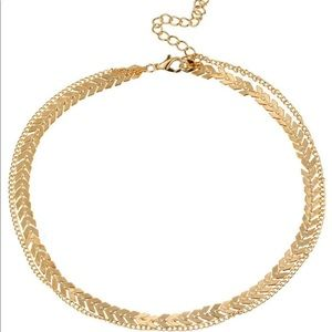Necklace Fish Bone Chain(Gold)